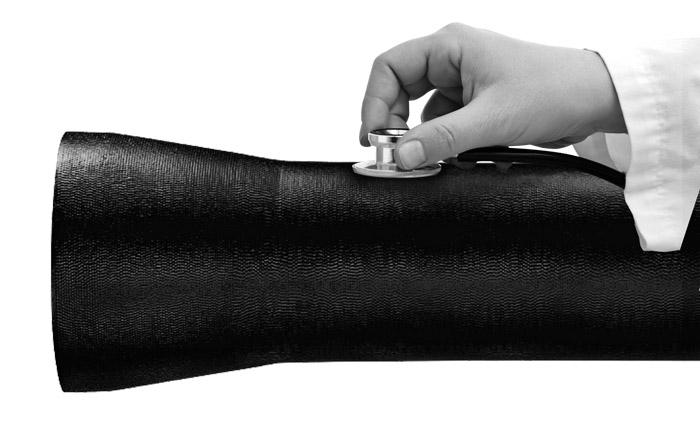 Diagnóstico tubo ferro fundido, inspeção tubagem rede de água