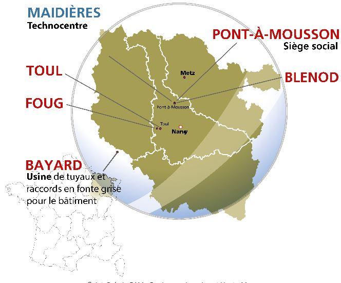 Saint-Gobain PAM - 5 fábricas na Lorraine e Haute-Marne