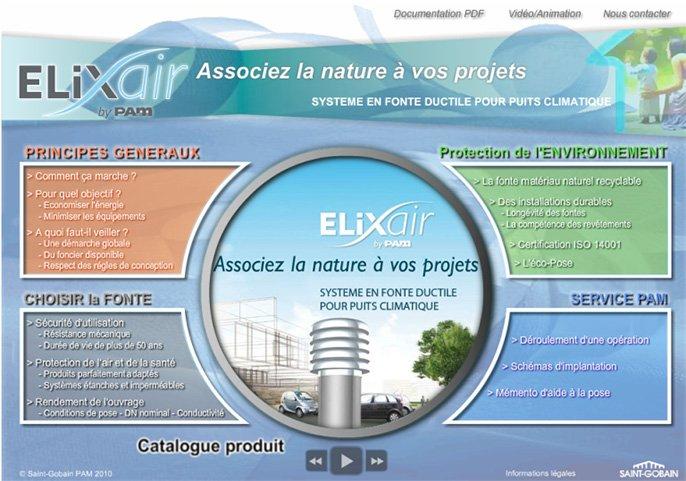ELIXAIR - système en fonte ductile pour puits climatique