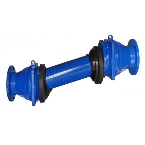GEOFLEX ® - Canalisation avec raccords coulissant, flexible et extensible en fonte ductile pour les contraintes geotechniques