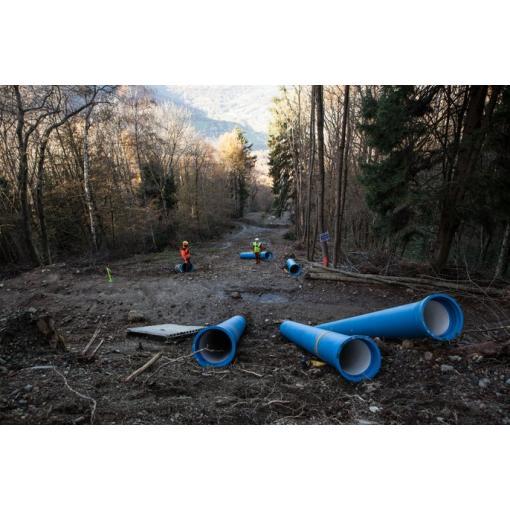 Instalação em declive - tubagens em ferro fundido dúctil- Saint-Gobain PAM